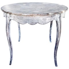 Rustic French Louis XV Style Side Table Having Cabriole Legs