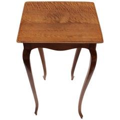 Art Nouveau Walnut Small Side Table