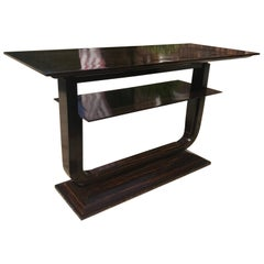 21st Century Zebra or Rosewood Console Table