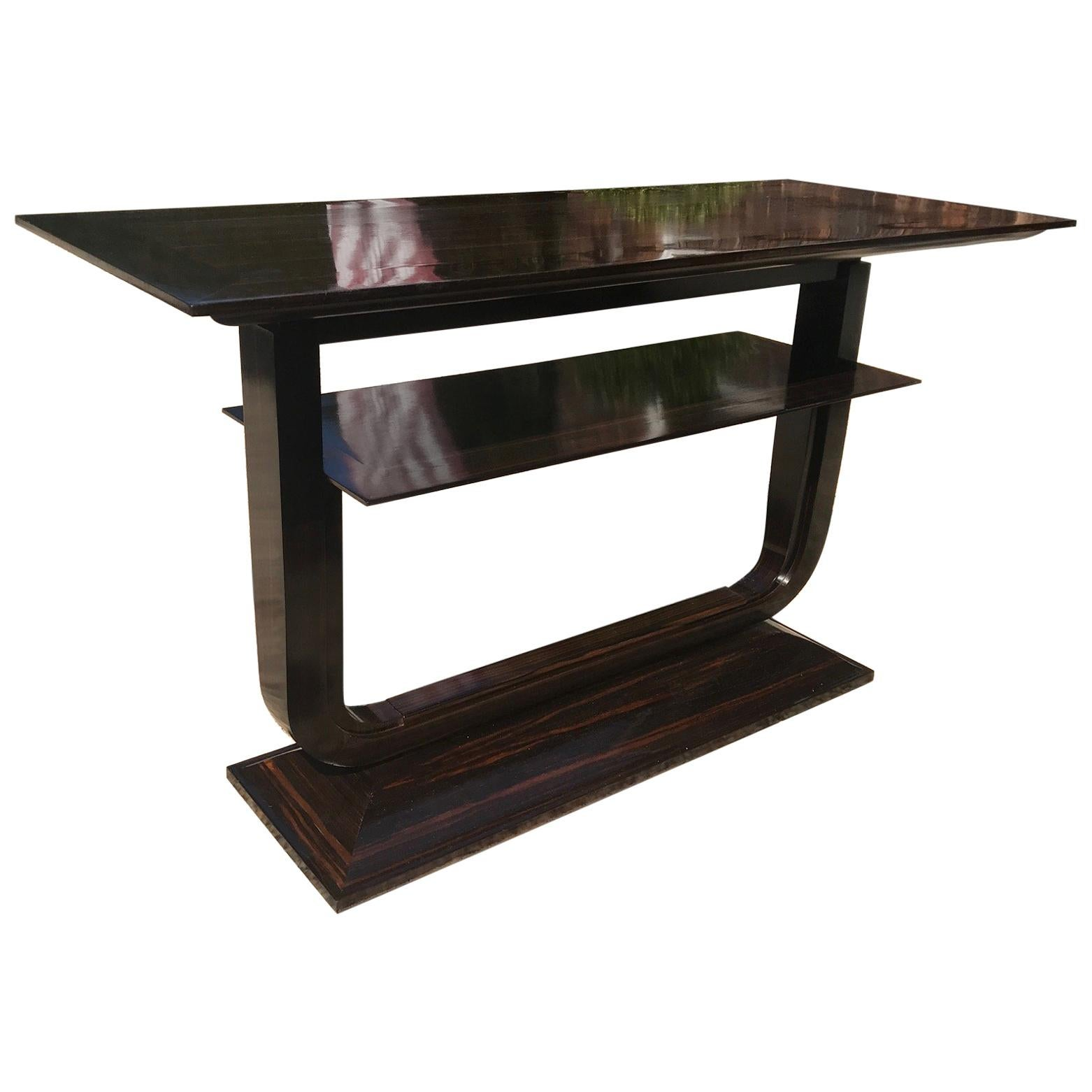 21st Century Zebra Or Rosewood Console Table For Sale