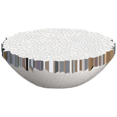 Round Coffee Table (MY Collection) Michael Young Polished Stainless Steel Enamel