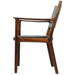 Danish 1960s Armchair by Ole Wanscher Mod. PJ 412 Poul Jeppesen, Desk Chair