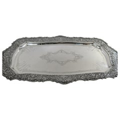 Antique Sterling Silver Large Tray, Shreve & Co, San Francisco