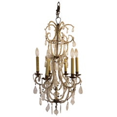 Small Italian Chandelier with Rock Crystal