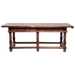 Dutch All Original 18th Century Carved Walnut Table