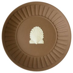 English Wedgwood Matte Jasperware Dish with Oyster Seashell Design