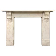 Period Marble Fireplace Surround and Cast Iron Insert