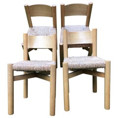 "Set of Four ""Meribel"" Chairs by Charlotte Perriand"