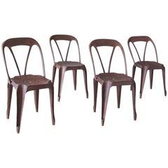 Rare Set of Four Fibrocit Chairs