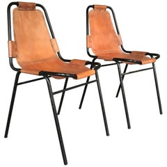 Pair of Charlotte Perriand Les Arcs Chairs, 1950s