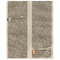 """The Chosen"" Deuteronomy 6-9, 1479 Large Latin Bible Leaf Medieval Incunabula"