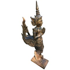 Exotic and Large Thai Deity Sculpture