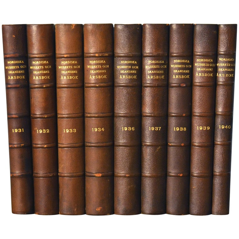 Collection of Leather Bound Books Series 132