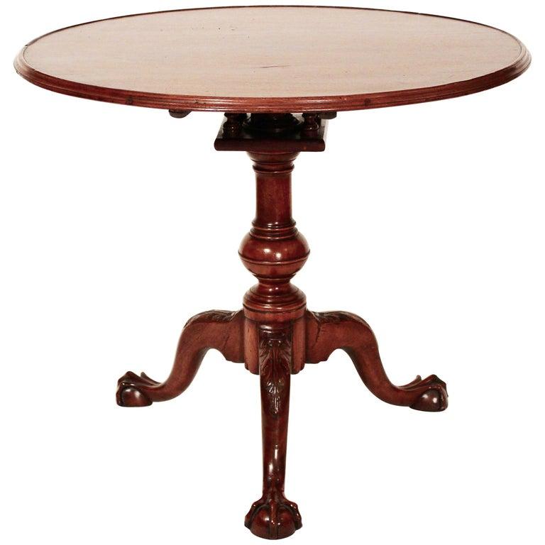 18th Century Mahogany Chippendale Tea Table