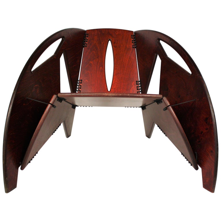Midcentury Foldable Rosewood Lounge Chair, 1960s