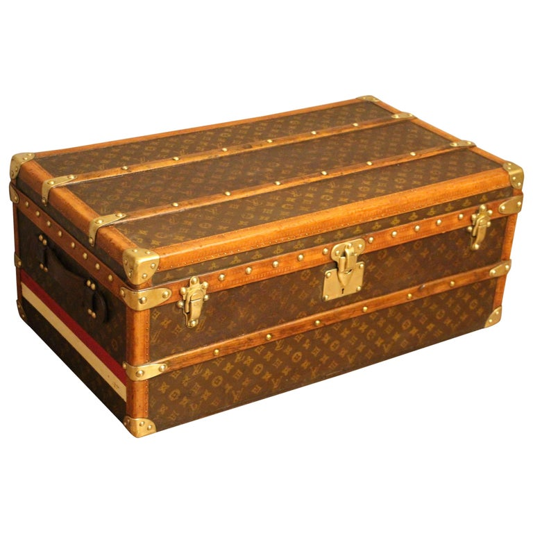 1920s Louis Vuitton Monogram Canvas Steamer Trunk, Louis Vuitton Cabin Trunk