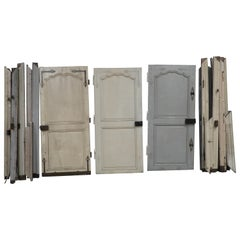 18th Century Louis XV Doors in Oak with Frames, Three Doors