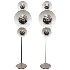 Enrico Tronconi Italian Modern Floor Lamps with Moving Discs