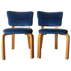 Pair of Early Alvar Aalto Design Model 62 Chairs