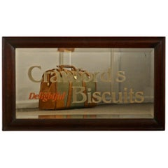 """Crawford's Delightful Biscuits"" Baker or Cafe Advertising Mirror"