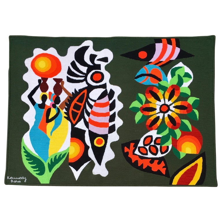 Mid-Century Modern South American Wall Art Tapestry by Kennedy Bahia ...