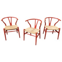 Hans Wegner Set of Six Wishbone Dining Chairs