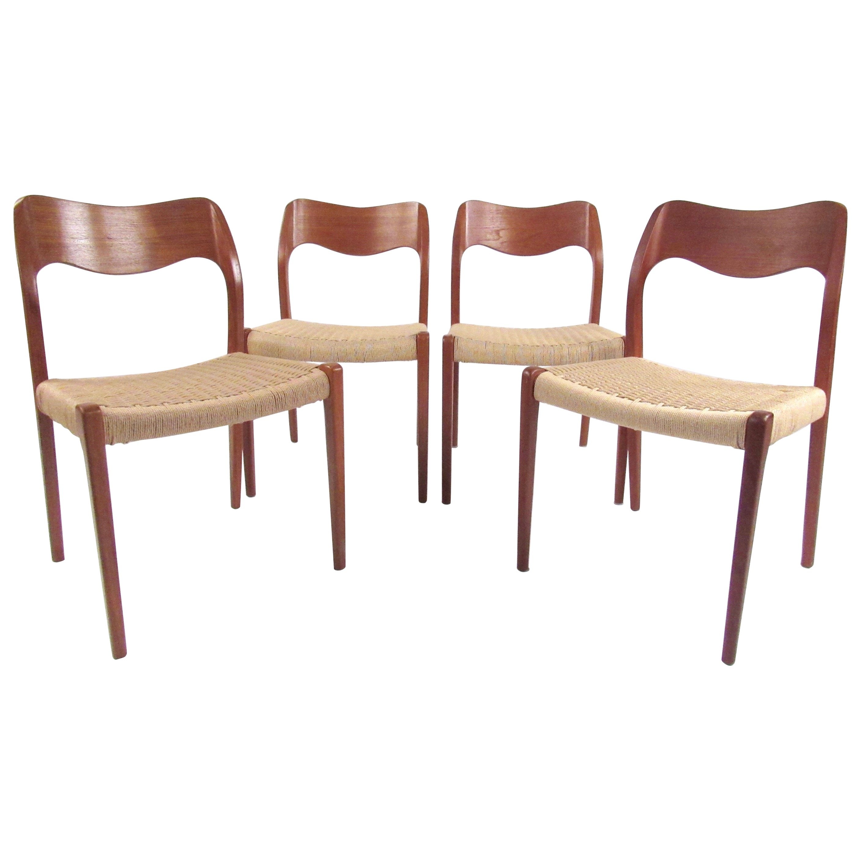 Niels O. Møller Dining Chairs with Papercord Seats
