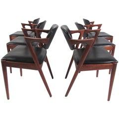 Kai Kristiansen Model 42 Teak Dining Chairs,  Set of Six