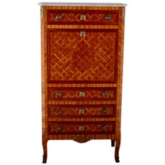 French Louis XVI-Style Marquetry Secretary