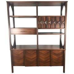 Elusive Kent Coffey Perspecta Double-Sided Room Divider, Sculpted Walnut