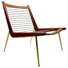 France and Daverkosen Boomerang Chair by Hvidt & Molgaard Nielsen