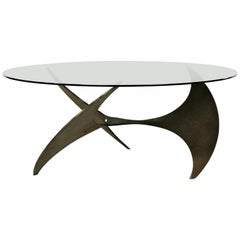 Vintage Propellor Coffee Table by Knut Hesterberg for Ronald Schmitt, 1960s