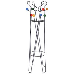 Modernist 'cle de sol' Coat Stand by Roger Feraud, 1950s