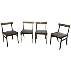 Vintage Dining Chairs by Ole Wanscher for Poul Jeppesen Set of Four