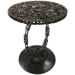 Industrial One of a Kind Machinist Sculptural Table