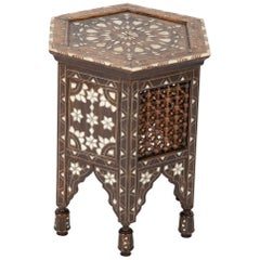 Ottoman Mother-of-Pearl and Bone Inlaid Side Table