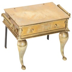 English Regency Brass Footman Side Table