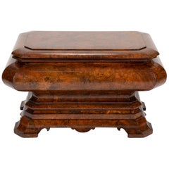 Regency Burl Walnut Cellarette, Large Scale
