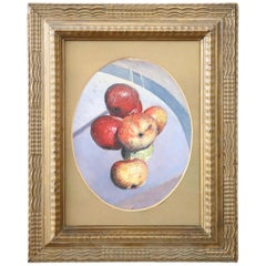 20th Century Italian Oil Painting on Wood Panel by Valentino Ghiglia
