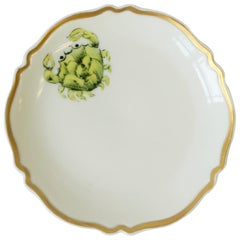 French White and Gold Porcelain Dish by Limoges