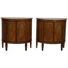Pair of Demilune Console Cabinets