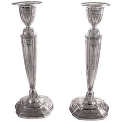 Large Sterling Candlesticks