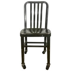 Antique Industrial Aluminum Rolling Desk Chair by General Fireproofing Co.