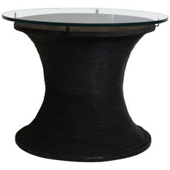 Glass Top Drum Table