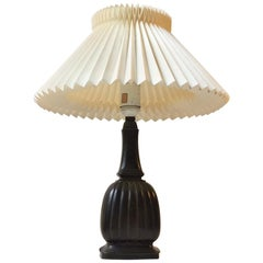 Fluted Art Deco Table Lamp in Diskometal by Just Andersen, Denmark, 1930s