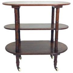 Victorian Oak Three-Tier Table