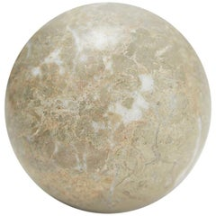 Extra Small Decorative Sphere, Solid Beige Stone