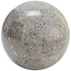 Extra Small Decorative Sphere, Tessellated Gray Stone