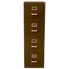 Vintage Drawer Cabinet with Metal Details