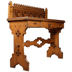 Victorian Gothic Revival Hall Table in the Manner of Charles Bevan